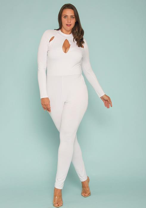 Plus Size Cutout Jumpsuit