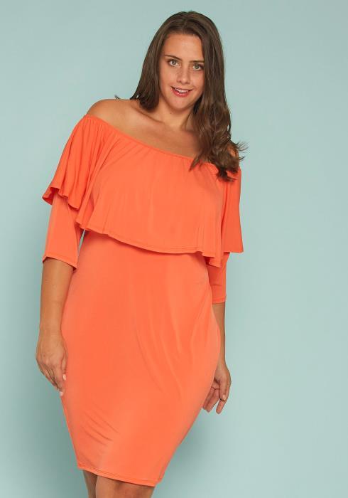 Plus Size Off Shoulder Bodycon Dress