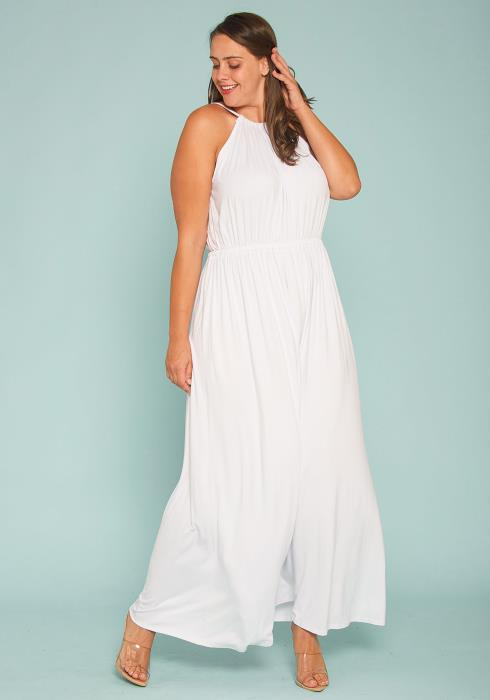 Asoph Plus Size Halter Maxi Dress