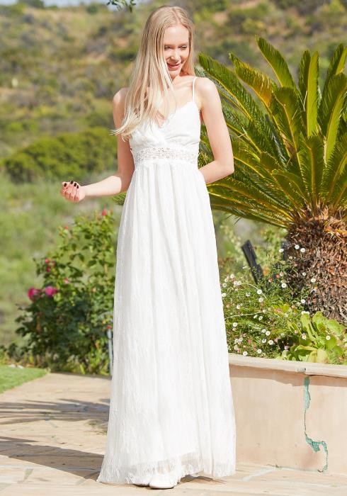 Tansy Lace Empire Maxi Dress