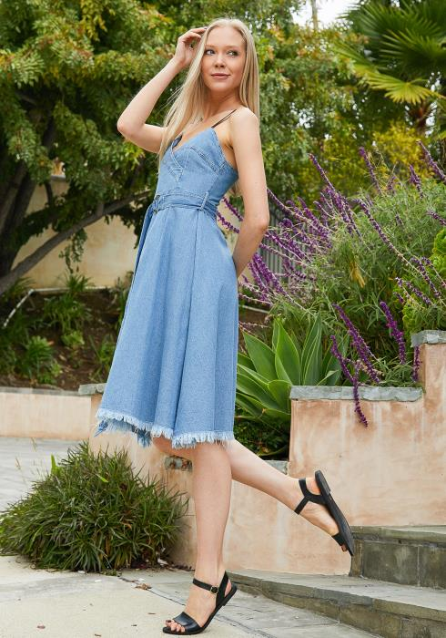 Tansy Sweetheart Denim Dress
