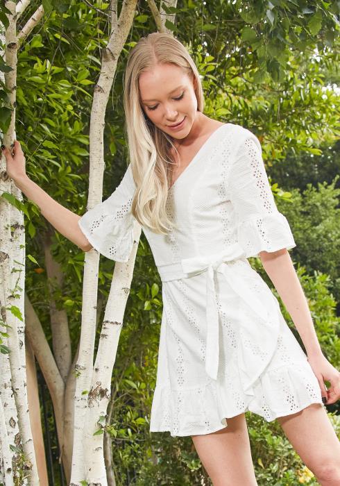 Tansy Eyelet Mini Dress