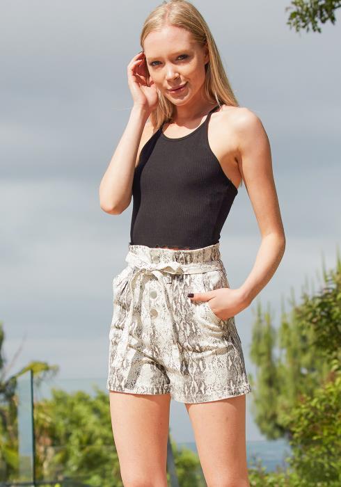 Tansy Snake Print Shorts