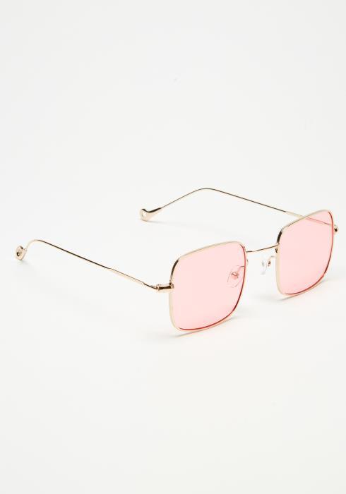 Square Metal Tinted Sunglasses