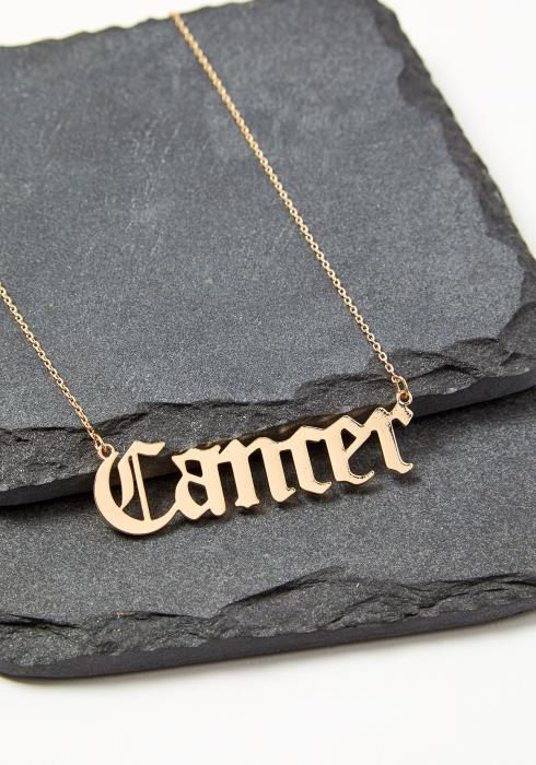 Cancer Zodiac Sign Necklace