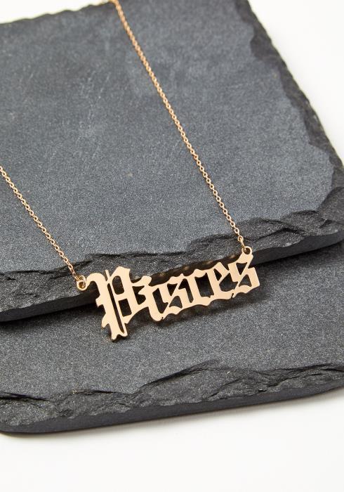 Pisces Zodiac Sign Necklace