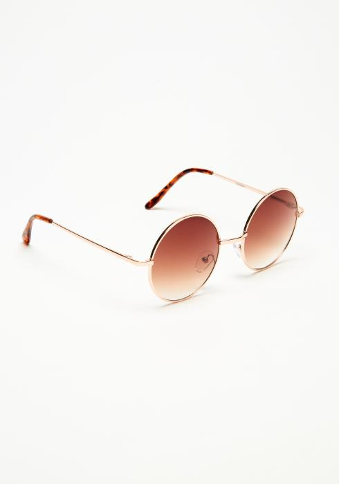 Circular Metal Tinted Sunglasses