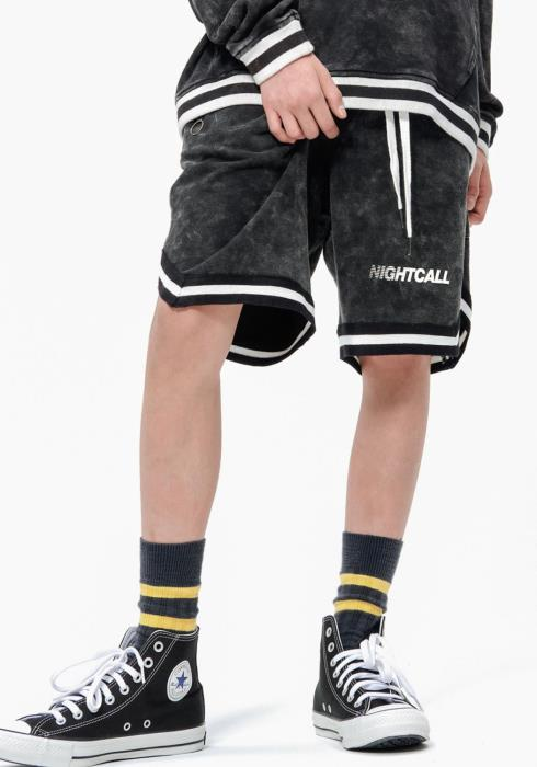 Konus Mens Acid Wash Knit Shorts / Bottas