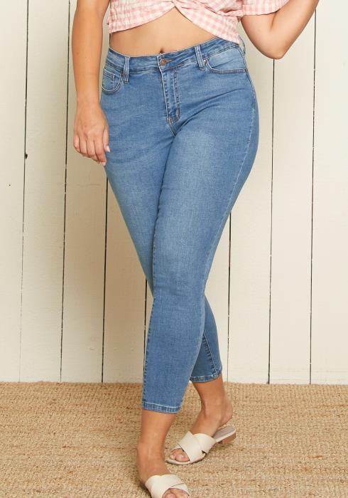 Asoph Plus Size Medium Wash Skinny Jean