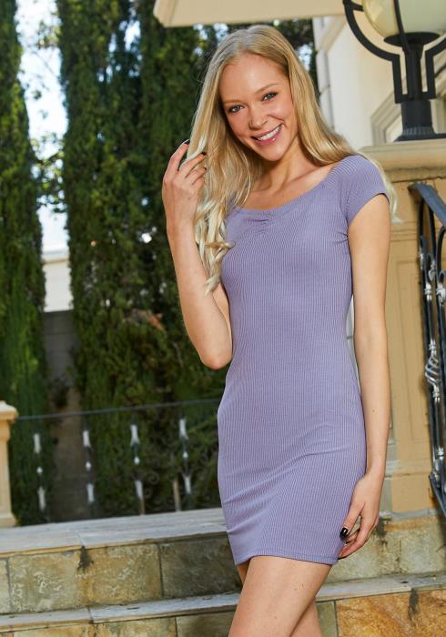 Tansy Ribbed Bodycon Dress
