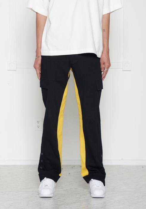 Blank State Mens Velcro Snap Button Cargo Pants