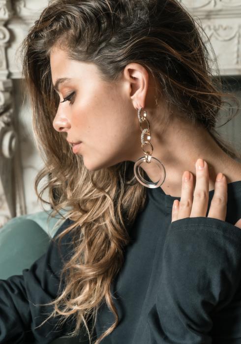Ember Drop Circle Earrings