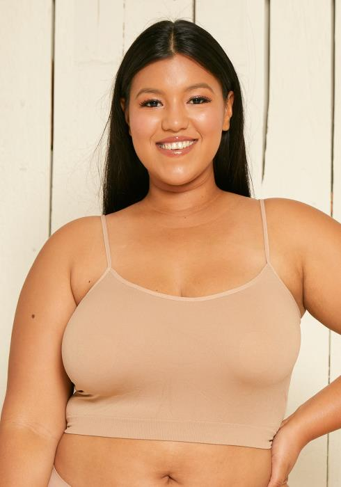 Asoph Plus Size Cropped Cami Top Bralettes