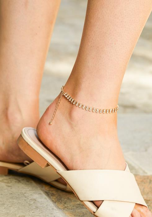 Aya Cubic Anklets