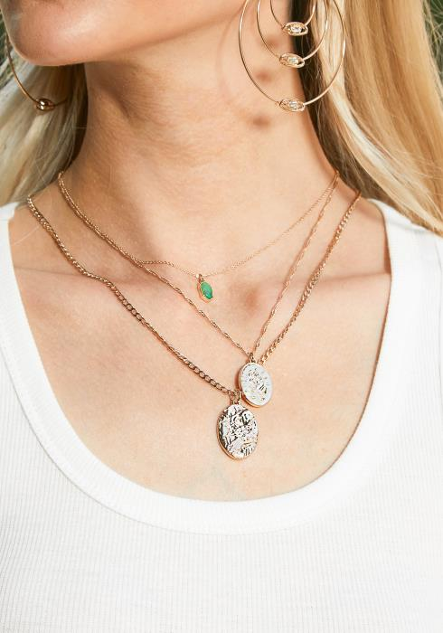 Hallie Layered Pendant Necklace