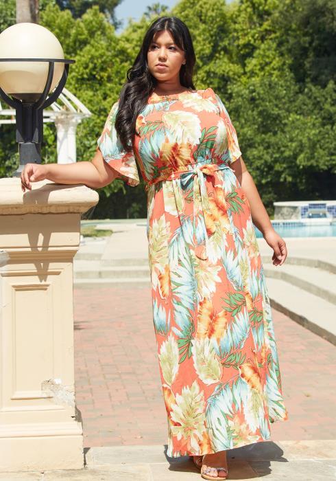 Asoph Plus Size Summer Maxi Dress