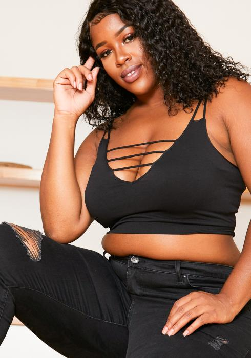 Nikibiki Seamless x Asoph Plus Size Womens Strappy Ladder Bralette