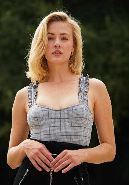 Tansy Plaid Sleeveless Bodysuit