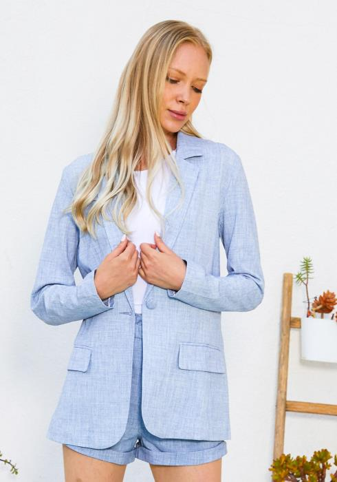 Tansy Single Button Blazer
