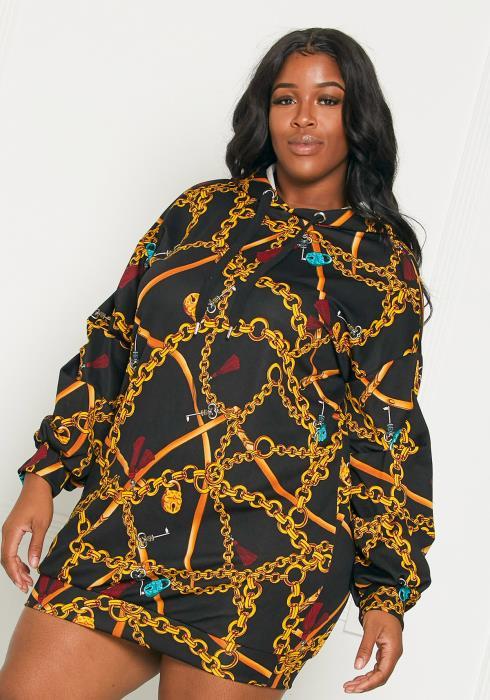 Asoph Plus Size Chain Me Up Dress