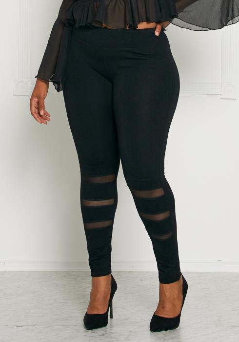 Asoph Plus Size Mesh it Up Leggings