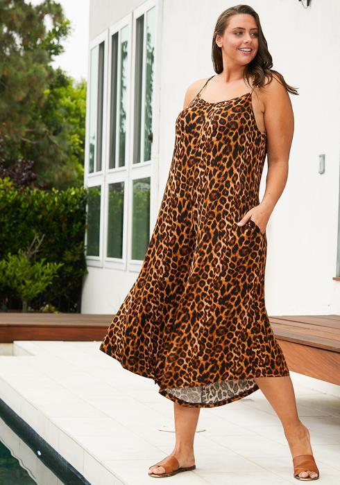 Asoph Plus Size Leopard Jumpsuit