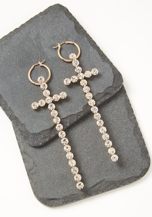 Alana Oversized Cross Earrings