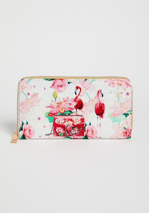 Flamingo Zipper Wallet