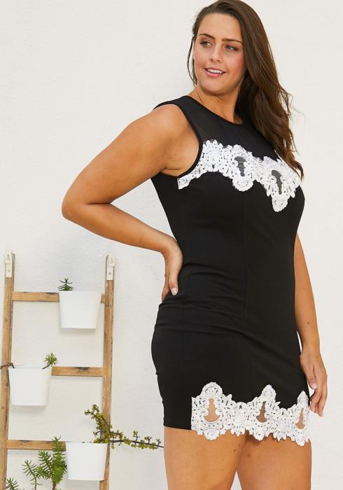 Asoph Plus Size Festive Mini Dress