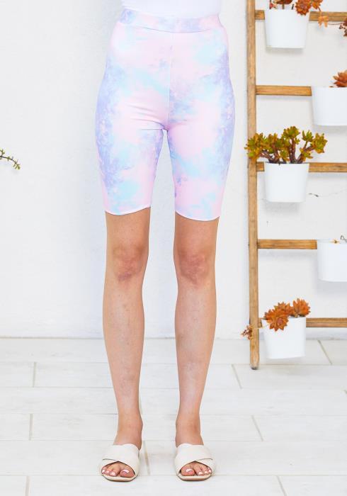 Tansy Unicorn Tie Dye Biker Shorts