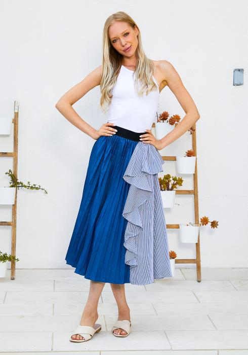 Tansy Ruffle Pleated Skirt