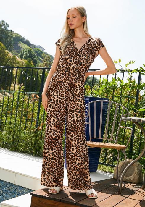 Tansy Leopard Jumpsuit