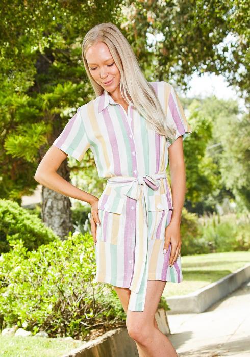 Tansy Candy Stripe Dress