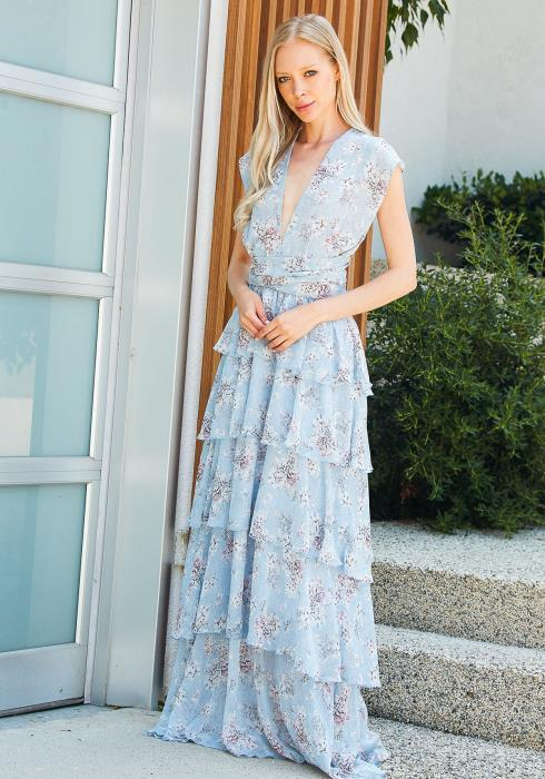 Tansy Ruffle Floral Maxi Dress
