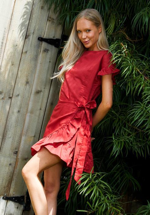 Tansy Ruffle Waist Tie Dress