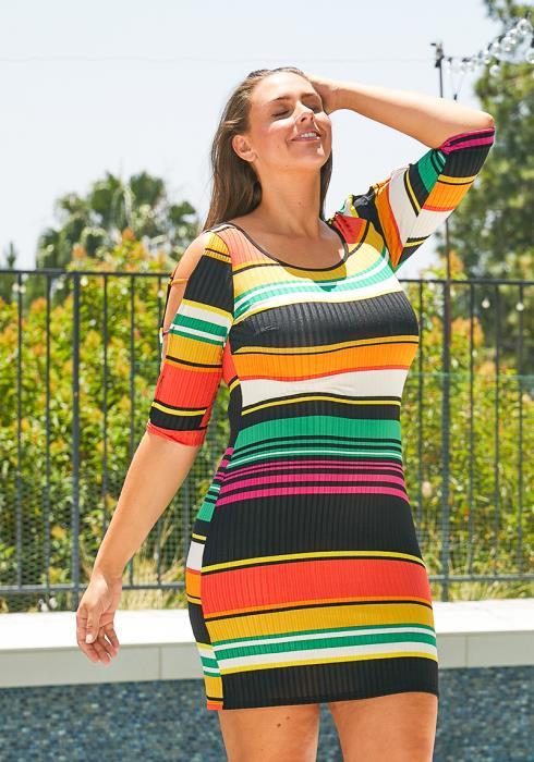Asoph Plus Size Womens Ladder Dress