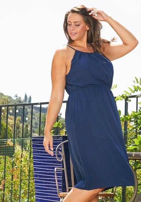 Asoph Plus Size Pleated Sun Dress
