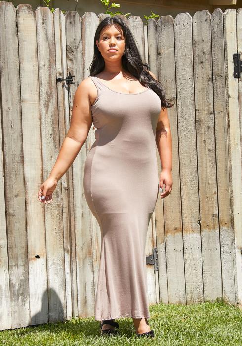 Asoph Plus Size Sleeveless Maxi Dress