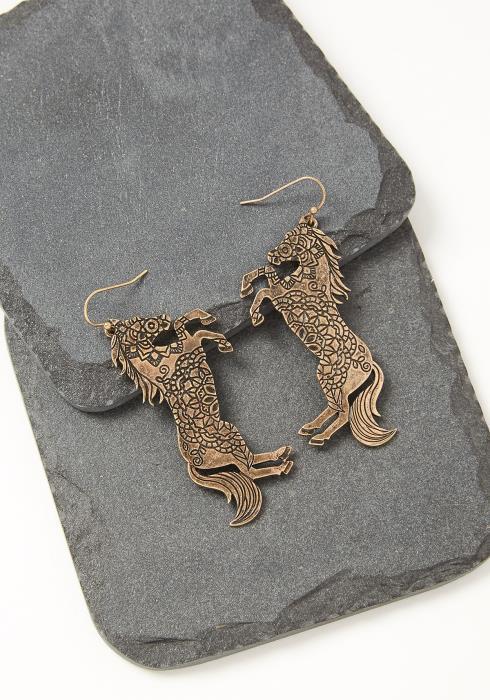 Ethnic Horse Earrings