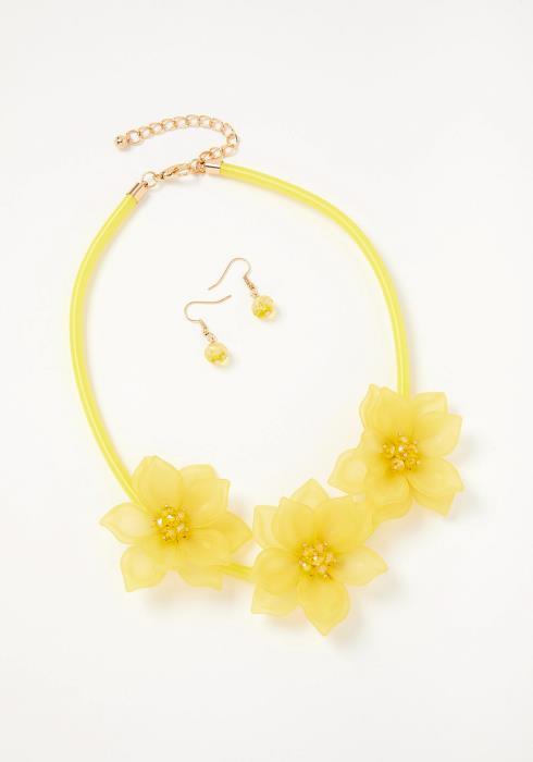 Summer Flower Necklace & Earring Set