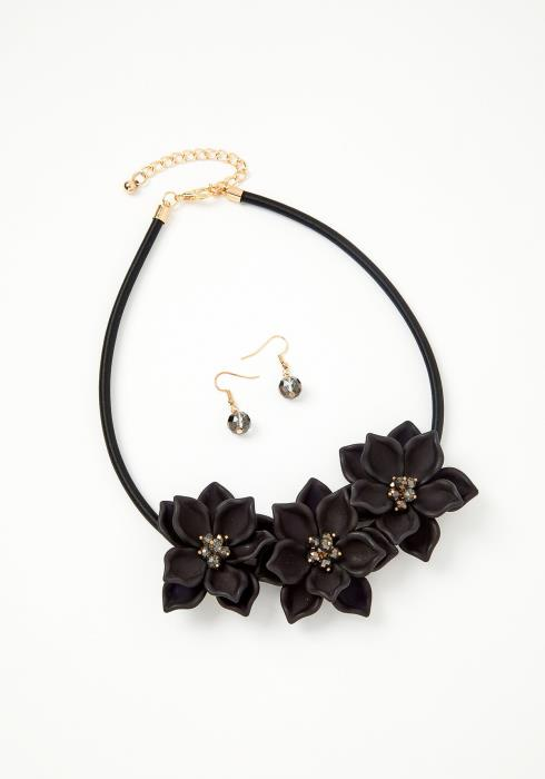 Summer Flower Necklace & Earring Set