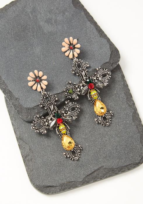Eloise Cross Drop Earrings
