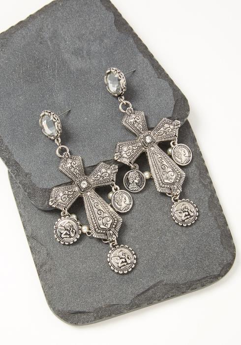 Finley Vintage Cross Earrings