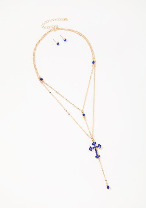 Hayden Sapphire Necklace Earring Set