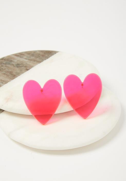 Remi Neon Heart Earrings