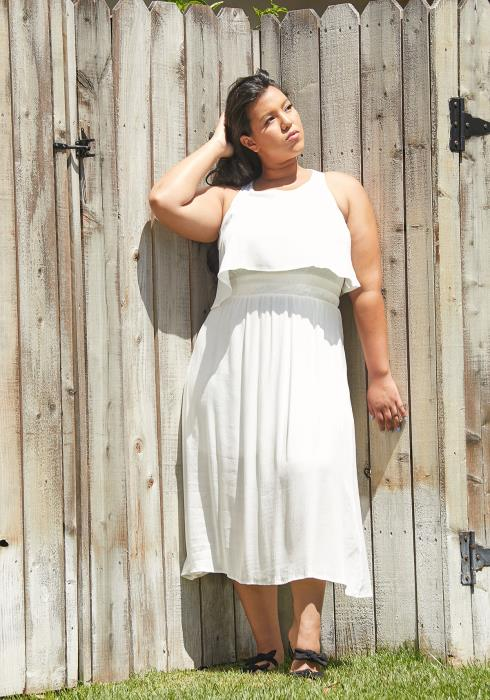 Asoph Plus Size Sleeveless Midi Dress
