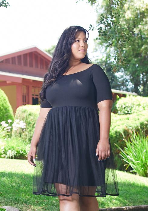 Asoph Plus Size Mesh Doll Dress