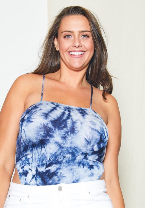Asoph Plus Size Tie Dye Cami Bodysuit