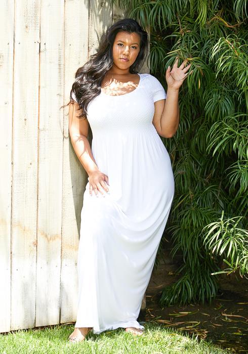 Asoph Plus Size Short Sleeve Maxi Dress