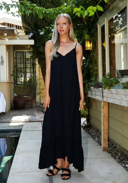Tansy Daily Black Maxi Dress